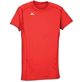 Mizuno Techno Volley Short Sleeve Jersey &#8211; Women&#8217;s ( sz. L, Cardinal )