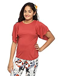 o.h.m Butterfly Sleeve Top (FW-OHM-NAUTICAL7_Maroon_Small)