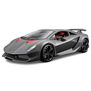 Bburago 1:24 Scale Plus Lamborghini Sesto Elemento Model Car (Metallic Grey)