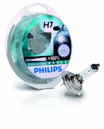Philips 12972XVS2 X-treme Vision +100% H7 Scheinwerferlampe, 2er Kit