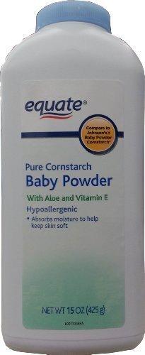 Equate Pure Cornstarch Baby Powder With Aloe and Vitamin E, 15oz