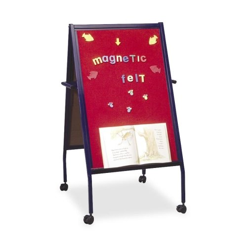 Balt Double-Sided Easel with Wheels, 2-Inch, Blue
