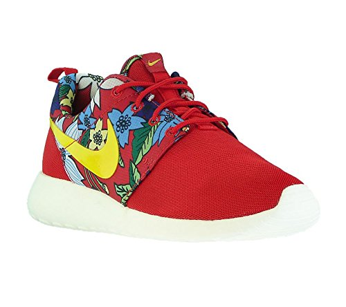 Nike WMNS Roshe Run Print Lite - University Red / Sail / Tour Yellow - US 8.5 / EU 40.0
