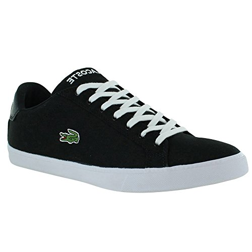 Lacoste Men's Grad Vulc Fb Fashion Sneaker Fashion Sneaker, Black/white, 9.5 M US