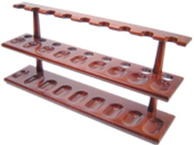 Tobacco Pipe Stand Furniture 2 Tier Rack for 18 Pipe Stand
