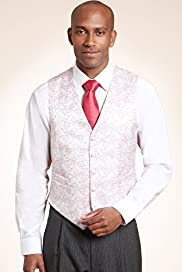 5 Button Paisley Print Wedding Waistcoat