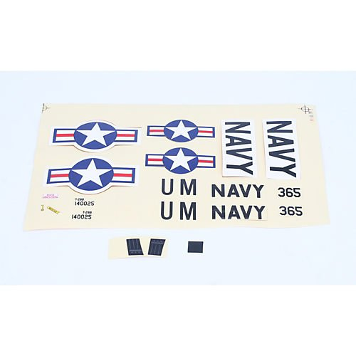 ParkZone Decal Sheet: UM T-28