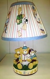 Amazon Com Teddy Bear Sports Themed Boy S Lamp Nursery
