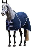 Kerbl 323637 Couverture classique pour cheval en polaire 145 cm (Bleu/noir)