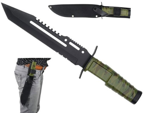 New 13 In Combat Hunting Knife Hk7772A