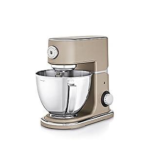 WMF Profi Plus Küchenmaschine (1000 W, 5L, Planetarisches Rührwerk, 8 Geschwindigkeitsstufen) platin bronze