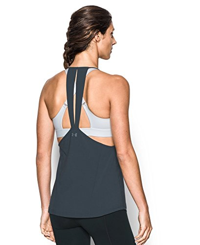 Under Armour Women's Fusion Racer Tank, Stealth Gray (008), Large