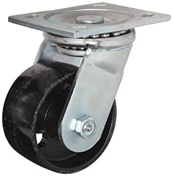E.R. Wagner Plate Caster, Swivel, Cast Iron Wheel