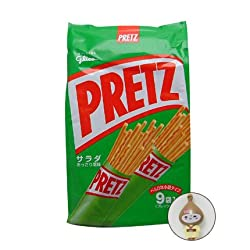 Glico Pretz Salad Biscuit Cracker Sticks Family Bag (9 Packs per Bag)
