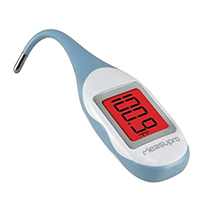 Flexible Quick Read Digital Baby Thermometer for Oral, Rectal & Underarm Use, with Ultra Soft Tip, Waterproof Design, Color Changing Fever Indication and Memory Function, CE, FDA Approved