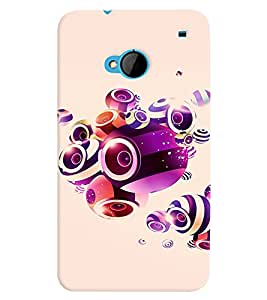 PRINTVISA Abstract Music Art Case Cover for HTC One M7