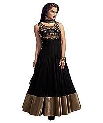 1 Stop Fashion Black Colored Soft Five star Net Anarkali-EBSFSK291025