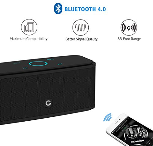 Bluetooth-Speakers-DOSS-Wireless-Portable-Bluetooth-40-Indoor-Outdoor-Speaker-with-12W-High-Definition-Sound-Quality-and-Superior-bassSensitive-touch12-Hours-playtimeHandsfreeBlack-SoundBox