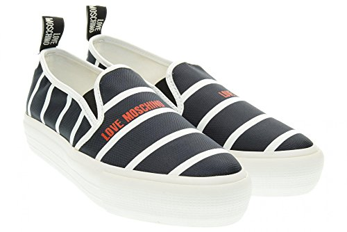 LOVE MOSCHINO donna slip on JA15024G11II075A 40 Blu-Bianco