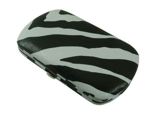 Mini Flat Wallet Clutch By Designsk (Zebra) back-923007