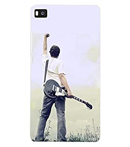 ColourCraft Guitar Back Case Cover for HUAWEI P8