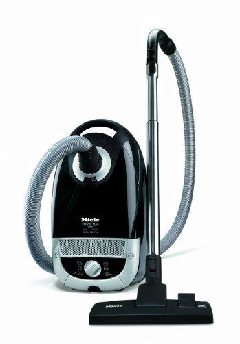 Miele Power Plus S5211 Bagged Cylinder Vacuum Cleaner, 2200 Watt, Deep Black