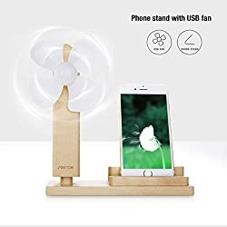 Seenda Directional Adjustable USB Fan with Smartphone Stand, Silent USB Fan for Home and Office Use
