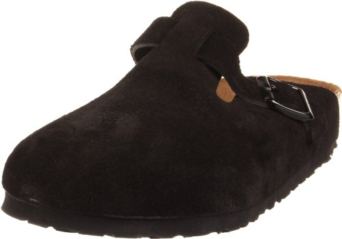 thumbnails of Birkenstock Boston Soft Footbed Clog,Black Suede,39 M EU