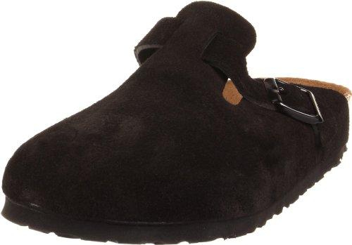 Birkenstock Boston Soft Footbed Clog,Black Suede,39 N EU