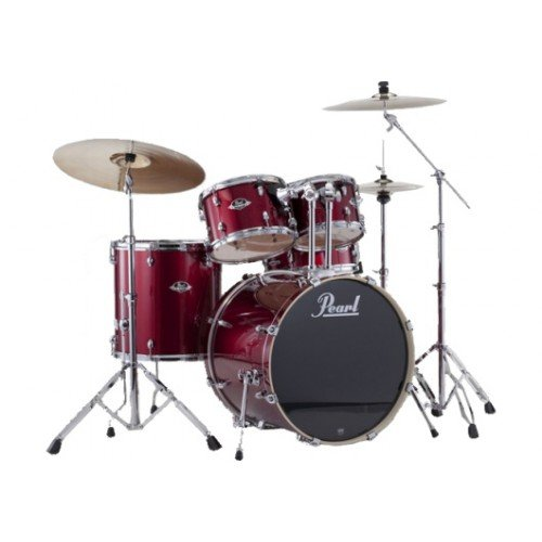 pearl-export-batteria-standard-22-red-wine-con-piatto
