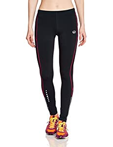 Ultrasport Women's Padded Thermal Long Running Trousers with Quick-Dry Function - XS, Black