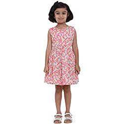 Indiwagon Peach Color Girls Dress