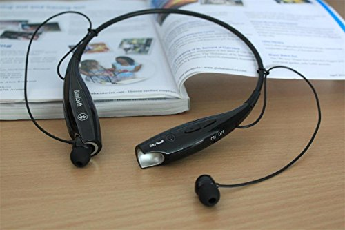 Xseries™ Universal Hv-800 Wireless Music A2Dp Stereo Bluetooth Headset Universal Vibration Neckband Style Headset Earphone Headphone For Cellphones Such As Iphone, Nokia, Htc, Samsung, Lg, Moto, Pc, Ipad, Psp And So On & Enabled Bluetooth (Black, Hv-800)