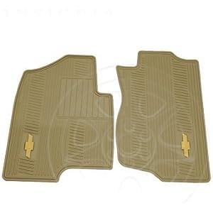 3pc Chevy Factory Black Yellow Logo Heavy Duty Front /& Runner Rubber Floor Mats