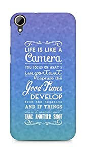 AMEZ life is like a camera Back Cover For HTC Desire 828