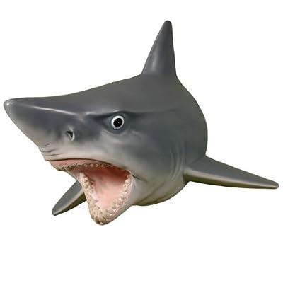 Wall Mounted Great White Shark w/ Teeth Head