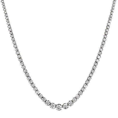 12 ct. t.w. Riviera Diamond Necklace (H-I, I1)