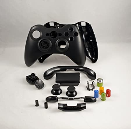 Black Xbox 360 Controller Shell Housing (thumbsticks, d-pad, buttons, ect)