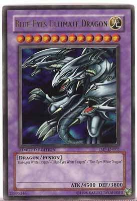 Yu Gi Oh Blue Eyes Ultimate Dragon Limited Edition Foil Trading Card
