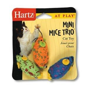 HARTZ MOUNTAIN #32700-83969 Mini Mice Trio Cat Toy
