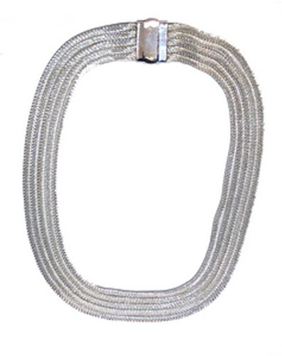 Multi Strand 'Silver' Colour Necklace 47cm