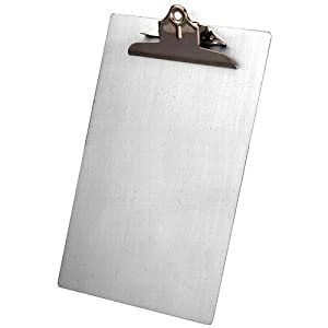 Saunders 22519 Recycled Aluminum Clipboard with High Capacity Clip - Legal Size - 8.5 x 14 inches