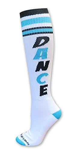 Retro Socks Dance Turquoise S/M