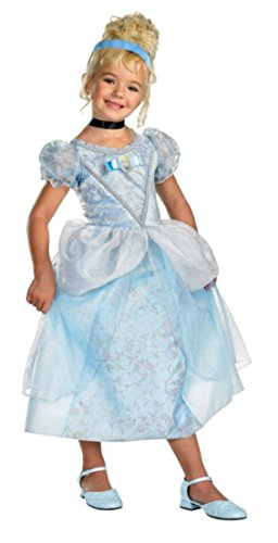 Girls Cinderella Deluxe Kids Child Fancy Dress Party Halloween Costume