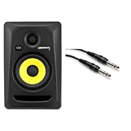 KRK Rokit 5 Studio Monitor Two Pack (Black) with TRS Cable