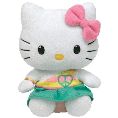 Imagen de IDAD Beanie Baby Hello Kitty - Peace Bear (Aqua)