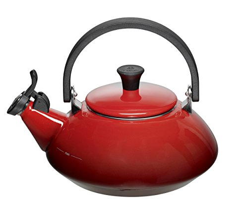 Le Creuset Zen Enamel-on-Steel 1-2/3-Quart Kettle (Cherry Red)