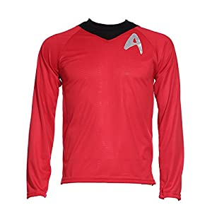 Red Blue Yellow Men Star Trek Licensed Adult Scotty Kirk Spock Fancy Costume Startrek Shirt L XL XXL