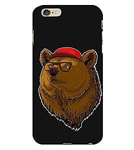 HiFi Designer Phone Back Case Cover Apple iPhone 6 :: Apple iPhone6 ( Bear Art Front Face Hip Hop Look )
