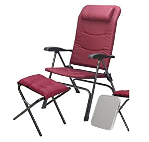 Ming's Mark 36025 Captain's Chair with Foot Rest, Burgundy